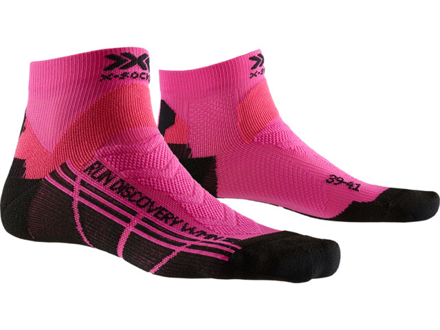 X-Socks Run Discovery Socks Damen flamingo pink/opal black